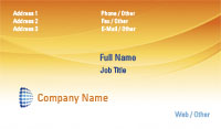 Orange Technology Business Card Template